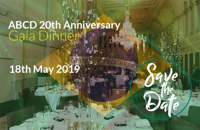 ABCD 20th Anniversary Gala Dinner - 18 May 2019 - Save the date